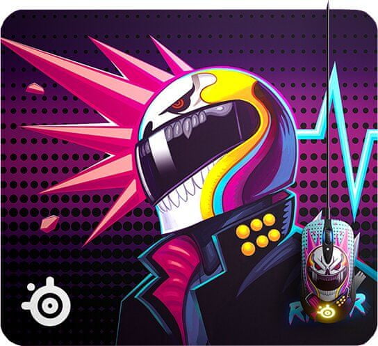 SteelSeries QcK CS:GO Neon Rider Edition, L (63837)