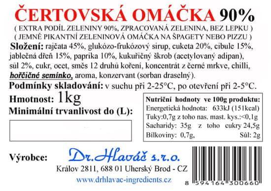 Dr. Hlaváč Zeleninová Čertovská omáčka 90% 1 kg