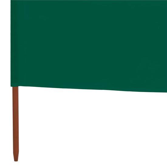 shumee 9-panelni vetrobran tkanina 1200x80 cm zelen
