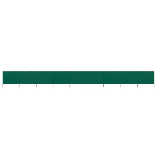 shumee 9-panelni vetrobran tkanina 1200x120 cm zelen