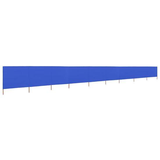 shumee azúrkék 9 paneles szövet szélfogó 1200 x 160 cm