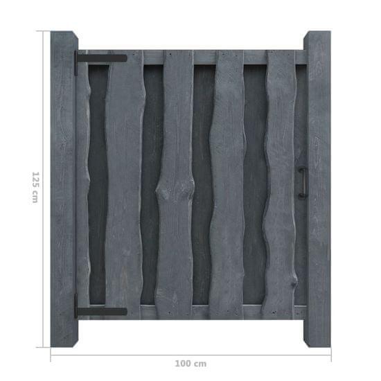 shumee Furtka ogrodowa, impregnowana sosna, 100x125 cm, szara