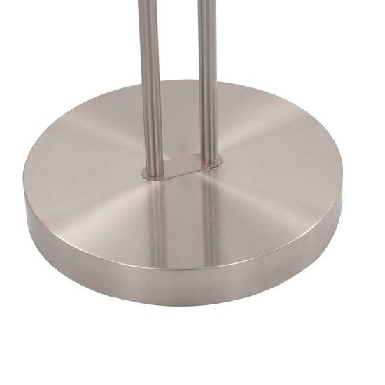shumee Lampa stojąca, 18 W, srebrna, 180 cm, przyciemniana