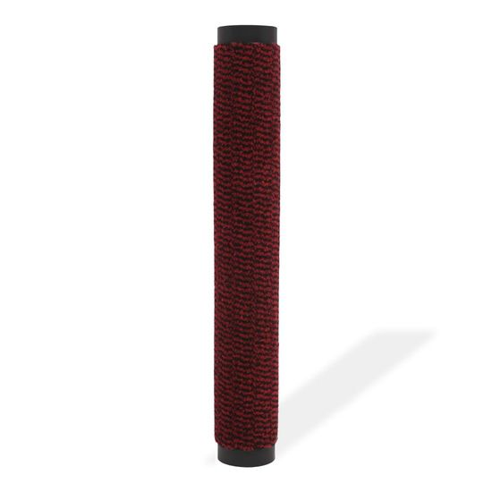 shumee Prostokątna wycieraczka przed drzwi 90 x 150 cm, czerwona