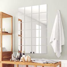 shumee 48 kosov zrcalnih ploščic kvadratne oblike steklo