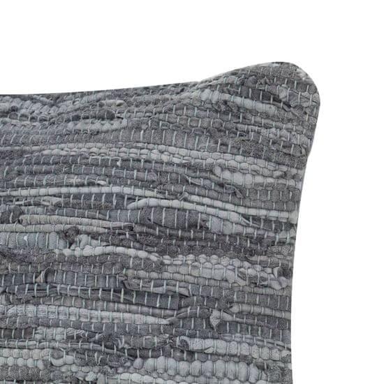 shumee Poduszki Chindi, 2 szt, szare, 45x45 cm, skóra i bawełna