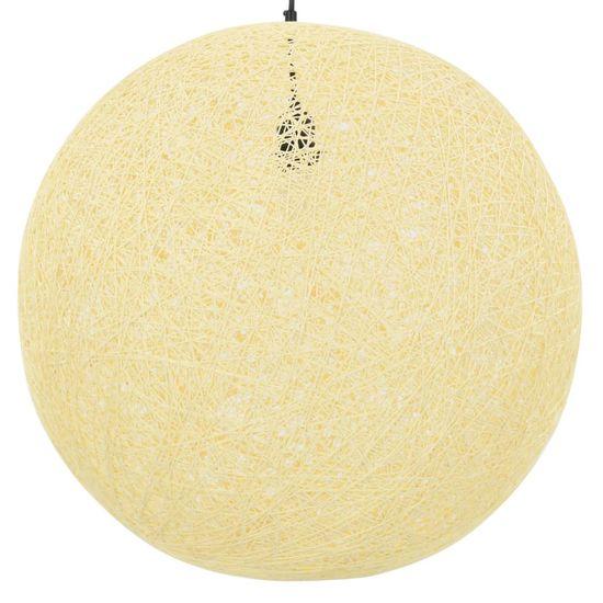 shumee Viseča svetilka krem krogla 55 cm E27