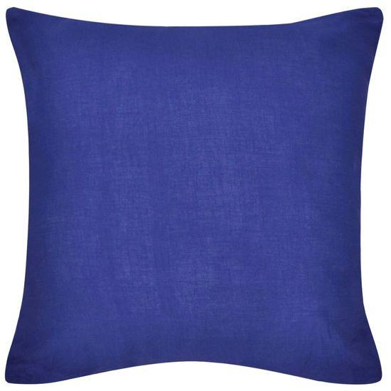 shumee 4 db pamut párnahuzat 50 x 50 cm kék