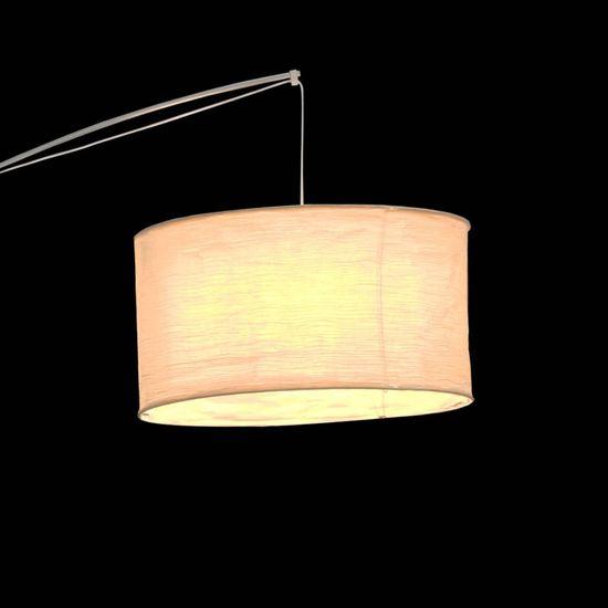 shumee Stoječa svetilka smetaneve barve z nastavljivim lokom 192 cm