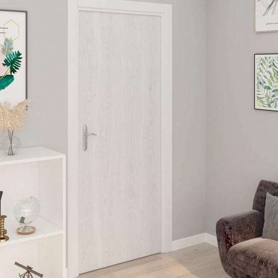 shumee 4 db fehér faszínű öntapadó PVC ajtófólia 210 x 90 cm