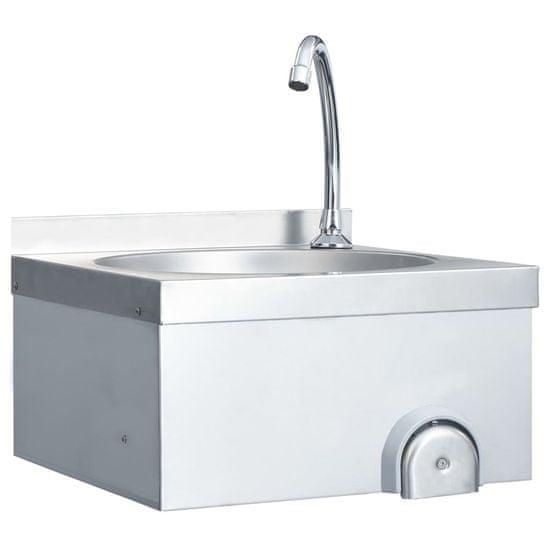 shumee Bezdotykowa umywalka z kranem do rąk i dozownikiem mydła, stal