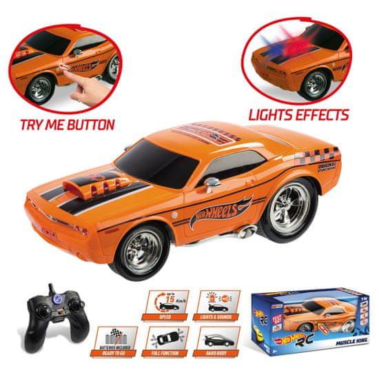 Hot Wheels R/C Muscle King avtomobil, 1:16, na daljinsko vodenje