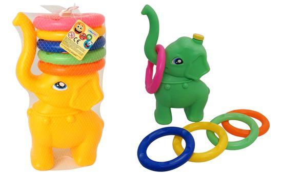 Unikatoy igra z obroči, slonček