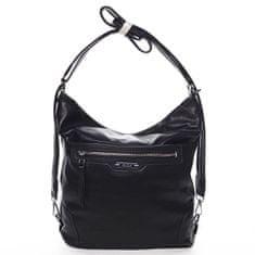 Romina & Co. Bags Dámsky pohodlný koženkový kabelko/batoh Anicet čierny