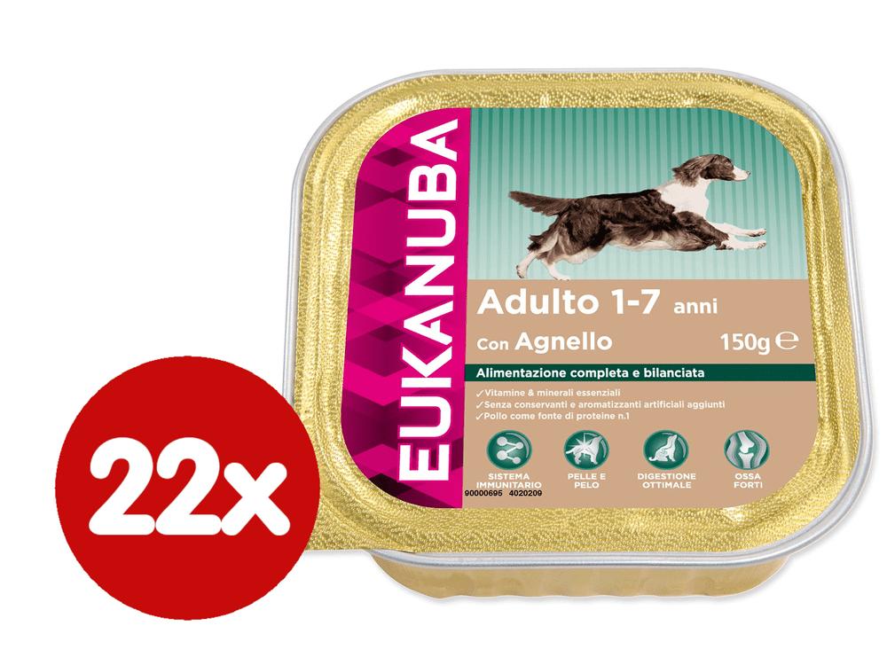 Eukanuba vanička Adult Lamb 22x150g