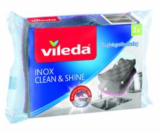 Vileda PurActive Inox Clean & Shine čistilec posode, 2 kos