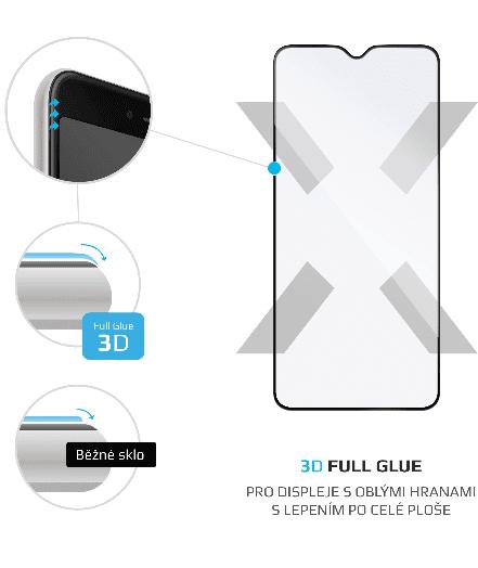 FIXED Ochranné tvrzené sklo 3D Full-Cover pro Xiaomi Redmi Note 8T, s lepením přes celý displej, černé FIXG3D-455-BK