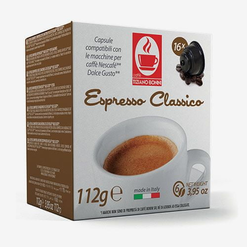 Tiziano Bonini Classico kapsule pre kávovary Dolce Gusto 16 ks