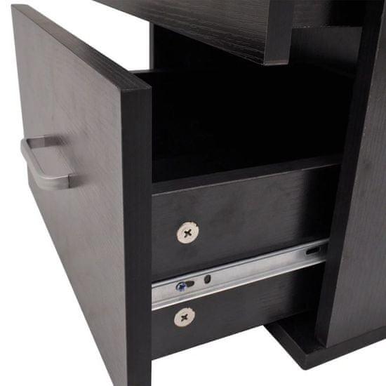 shumee Sedem delni komplet kopalniškega pohištva z umivalnikoma črni