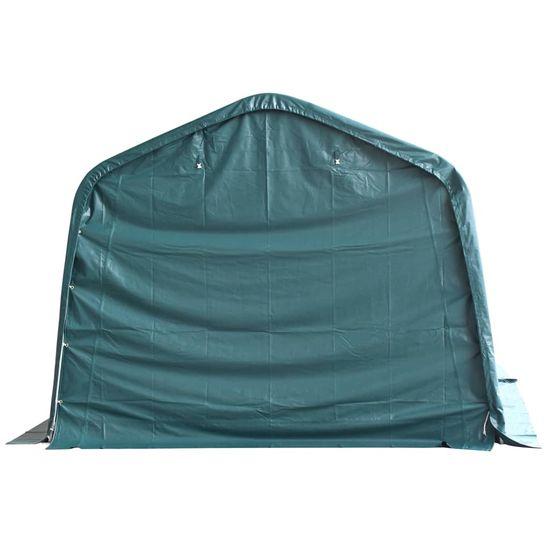 shumee Odnímateľný prístrešok pre dobytok PVC 550 g/m², 3,3x6,4 m, zelený