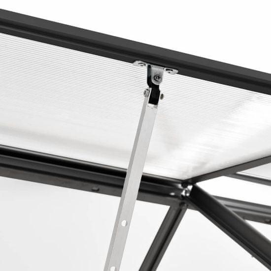 shumee Rastlinjak antraciten iz aluminija 3,61 m²