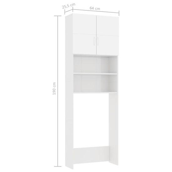 shumee Szafka na pralkę, wysoki połysk, biała, 64x25,5x190 cm