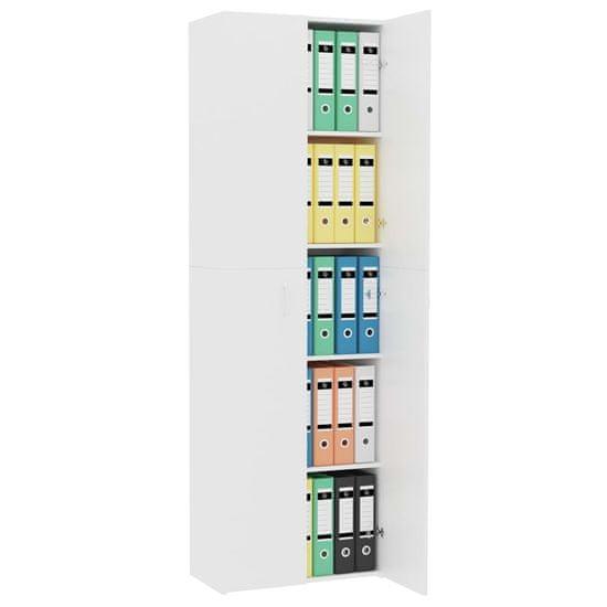 Petromila Kancelářská skříň bílá 60 x 32 x 190 cm dřevotříska