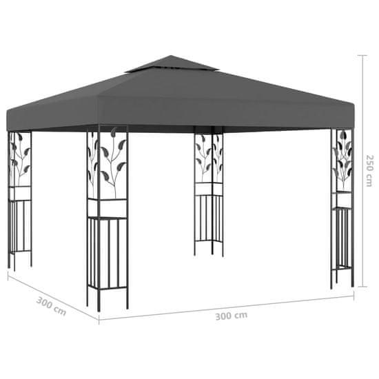 shumee antracitszürke pavilon 3 x 3 m