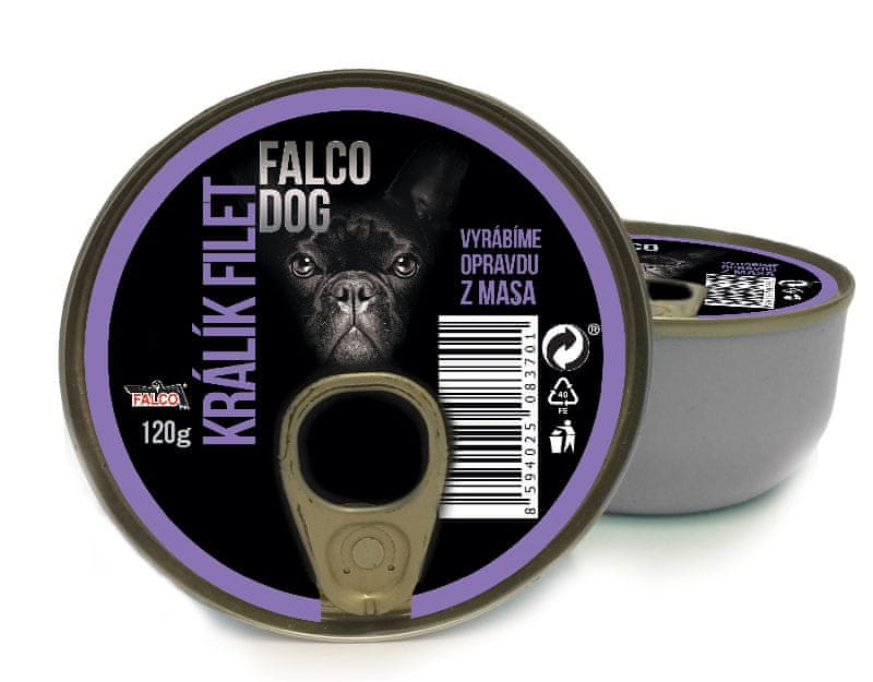 FALCO Dog králík filet 8x120 g