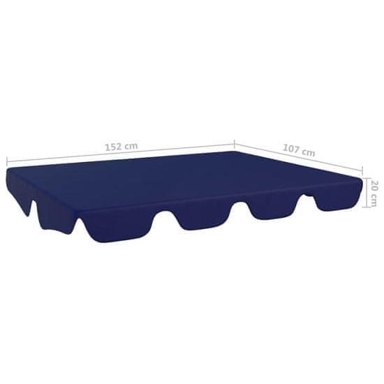 shumee Zadaszenie do huśtawki ogrodowej, niebieskie, 192x147 cm