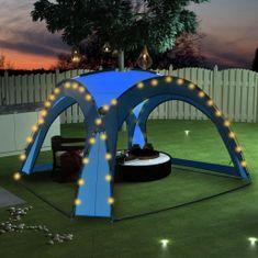 shumee Namiot imprezowy z LED i 4 ściankami, 3,6x3,6x2,3 m, niebieski