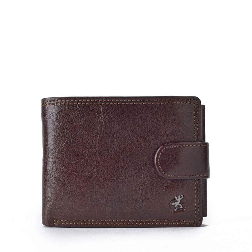 COSSET hnědá pánská peněženka 4487 Komodo H