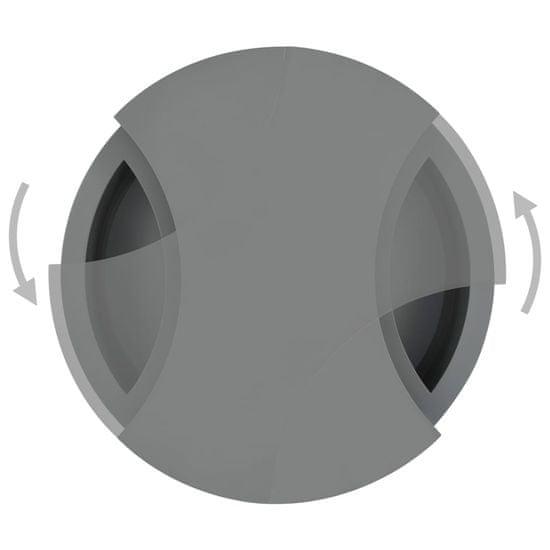 Greatstore Konferenčný stolík nastaviteľný tvar vysoký lesk sivý
