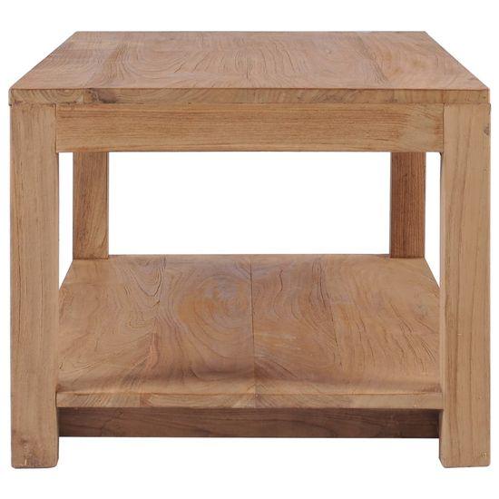 shumee tömör tíkfa dohányzóasztal 100 x 50 x 40 cm