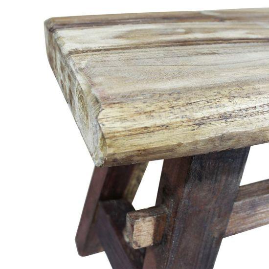 shumee tömör újrahasznosított fa pad 100 x 28 x 43 cm