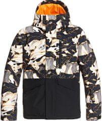 Quiksilver kurtka chłopięca Mission Blk Yth B Snjt Nkp2 XS niebieska/pomarańczowa