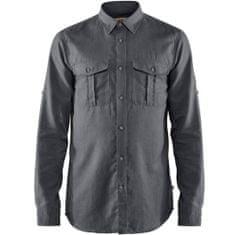 Fjällräven Övik Travel Shirt LS M, titan, xl
