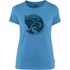 Fjällräven Arctic Fox Print T-Shirt W, temno modra, xs