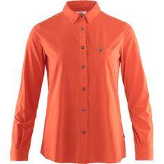 Fjällräven Övik Lite Shirt LS W, czerwony, s