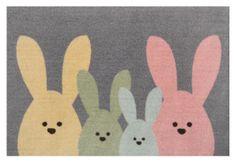 Hanse Home Protiskluzová rohožka Printy 104452 Grey, Multicolor 40x60