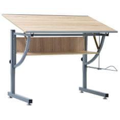 shumee Kresliaci stôl pre dospievajúcich dub 110x60x87 cm MDF