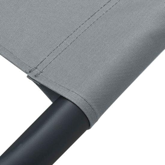 shumee Vrtni ležalnik siv 200x90 cm iz jekla