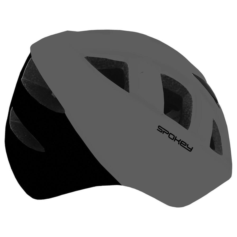 Spokey CHERUB Dětská cyklistická přilba IN-MOLD, 48-54 cm, šedá