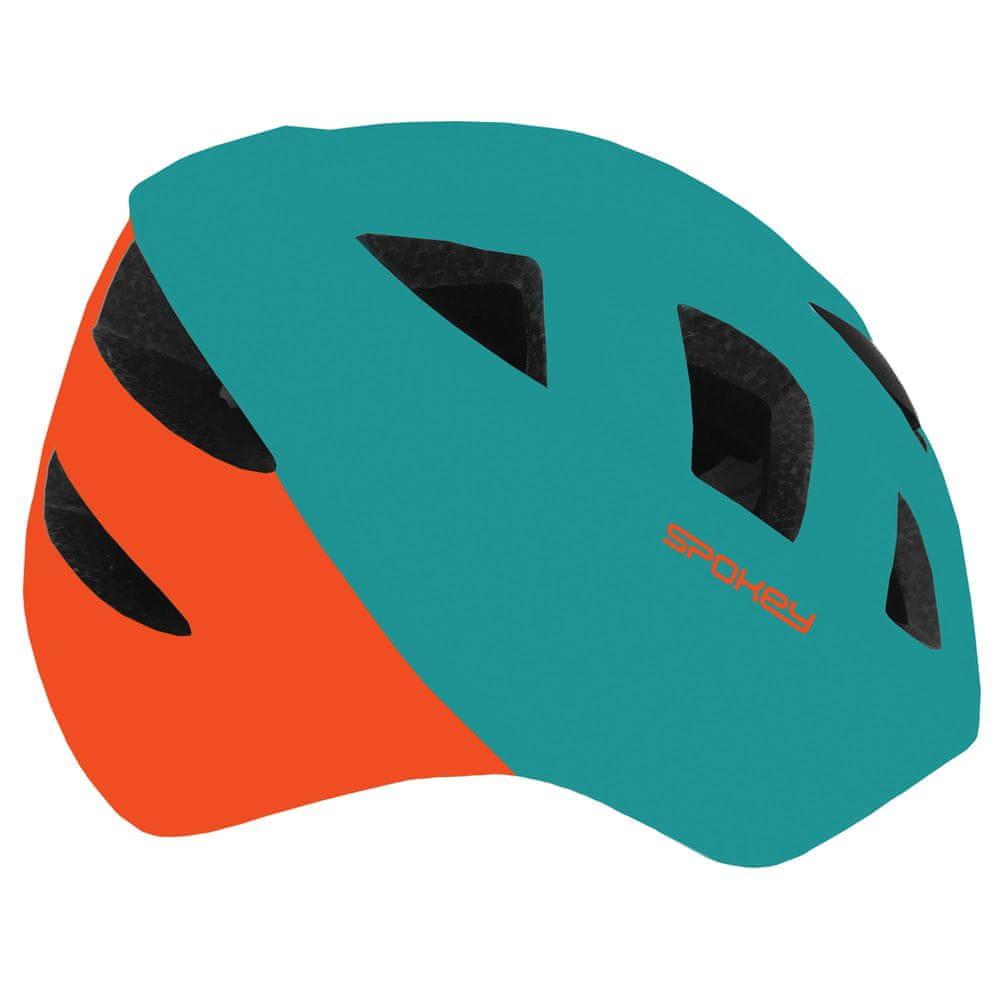 Spokey CHERUB Dětská cyklistická přilba IN-MOLD, 48-54 cm, modro-oranžová