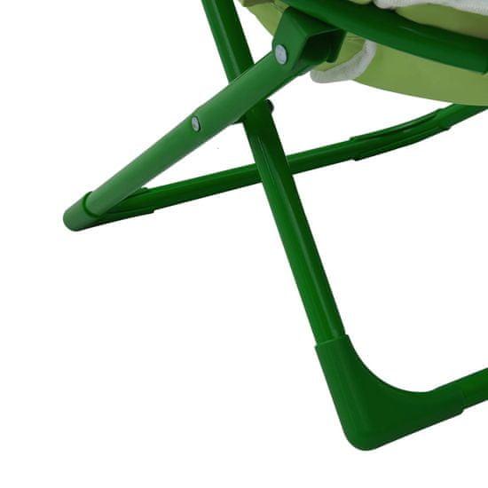 shumee Otroški vrtni stoli 2 kosa Zelena tkanina