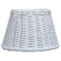 shumee Stínidlo na lampu proutěné 30 x 20 cm bílé