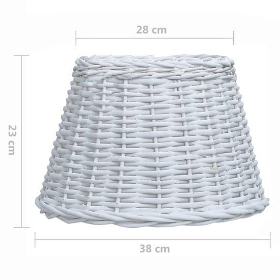 shumee Senčilo za svetilko pleteno 38x23 cm bele barve
