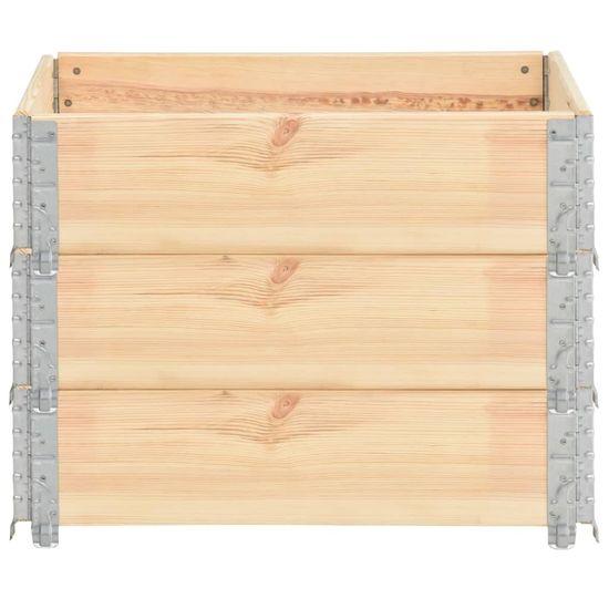 shumee Paletni okvirji 3 kosi 60x80 cm trdna borovina