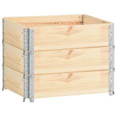 shumee Paletové nástavce 3 ks 60 x 80 cm masivní borové dřevo