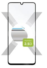 Ochranné tvrdené sklo Full-Cover pre Samsung Galaxy A41, lepenie cez celý displej, čierne FIXGFA-528-BK
